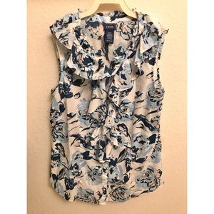 IZOD Sleeveless Floral Button Down Top - Size XS